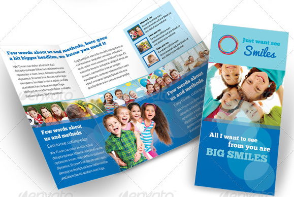 child care brochure template free