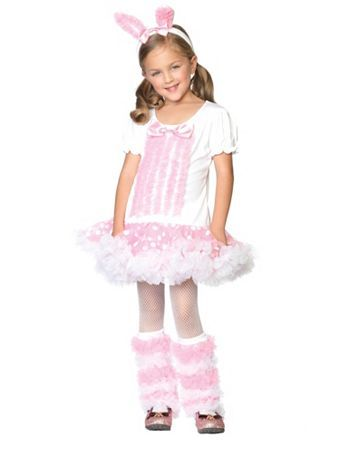 Childrens Bunny Fancy Dress Costume Easter Bunny Rabbit Animal Outfit 1-2 Yrs