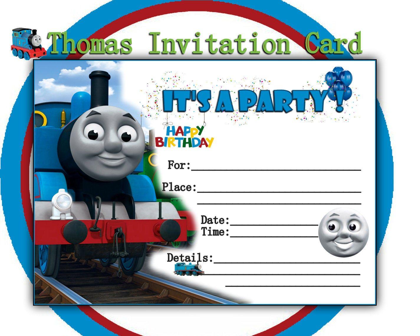 thomas tank birthday party invitation