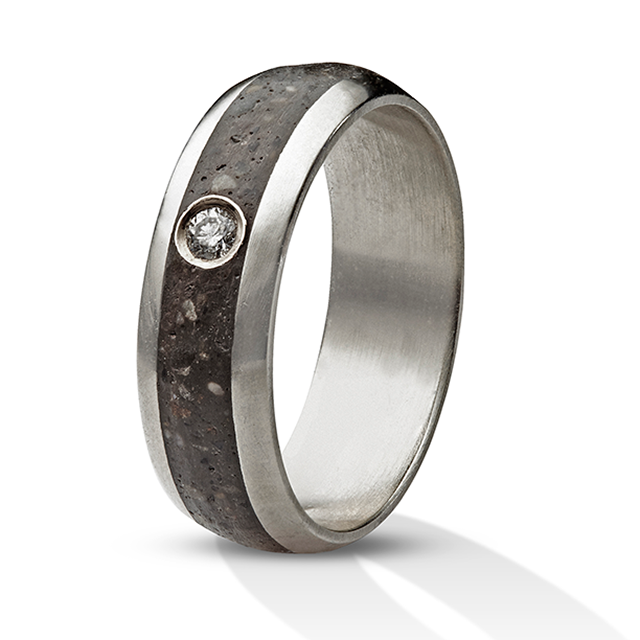 Concrete ring white gold Diamond rings Pinterest Concrete