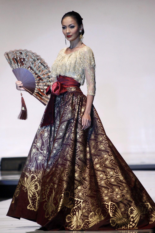Model Desain Kebaya Batik Indonesia di 12  Pakaian modern