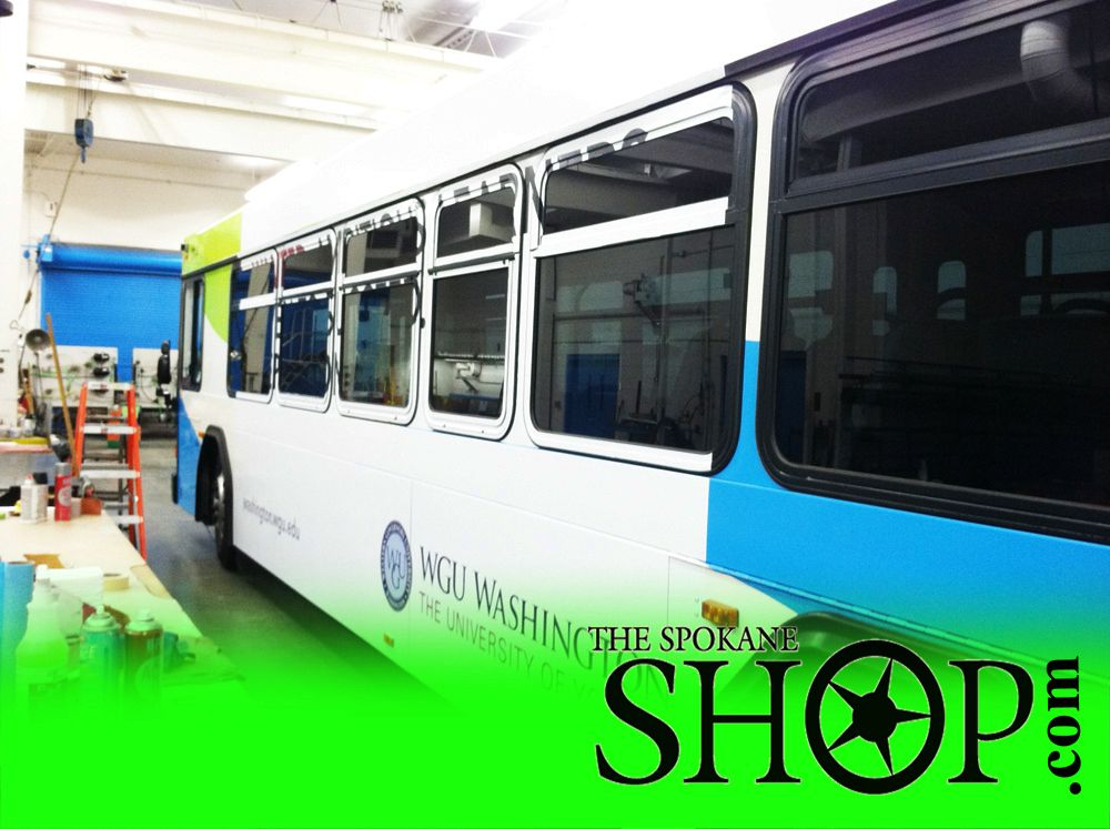 Some custom graphics the spokane shop did for the local city buses in spokane wa