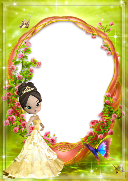 Cute Kids Transparent Princess Photo Frame | Hintergründe ...