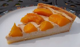The Caked Crusader: Peach and spiced ricotta tart