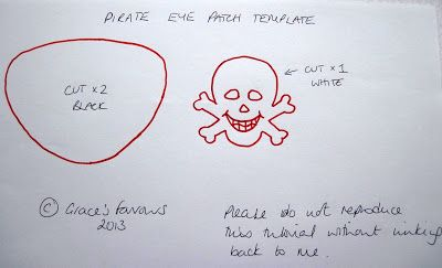 Template For Felt Pirate Eye Patch Tutorial