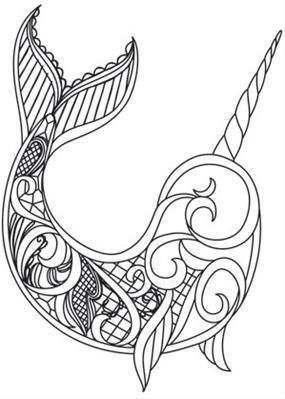 Dark Narwhal Image Narwhal Art Narwhal Drawing Narwhal Tattoo
