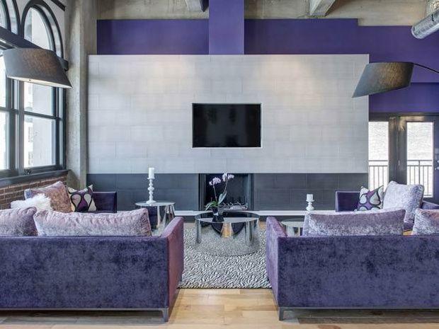 Lila Wohnzimmer Gestalten Farb Akzente Ideen Wände