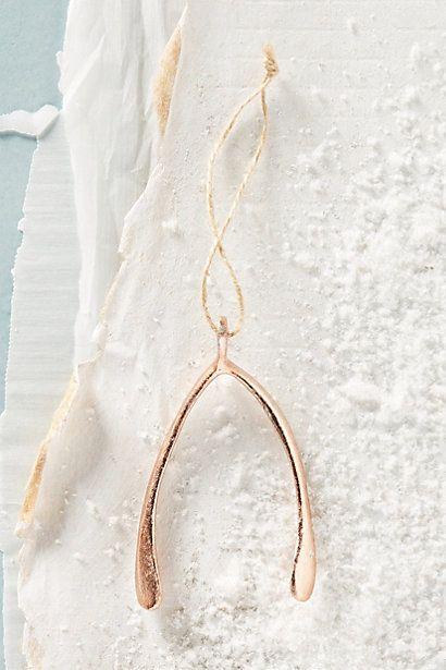 Shining Wishbone Ornament #anthropologie | left coast xmas | Pinterest