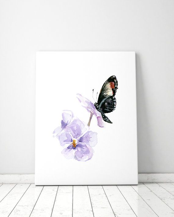 Black Butterfly Art Butterfly Watercolor Aquarelle Papillon