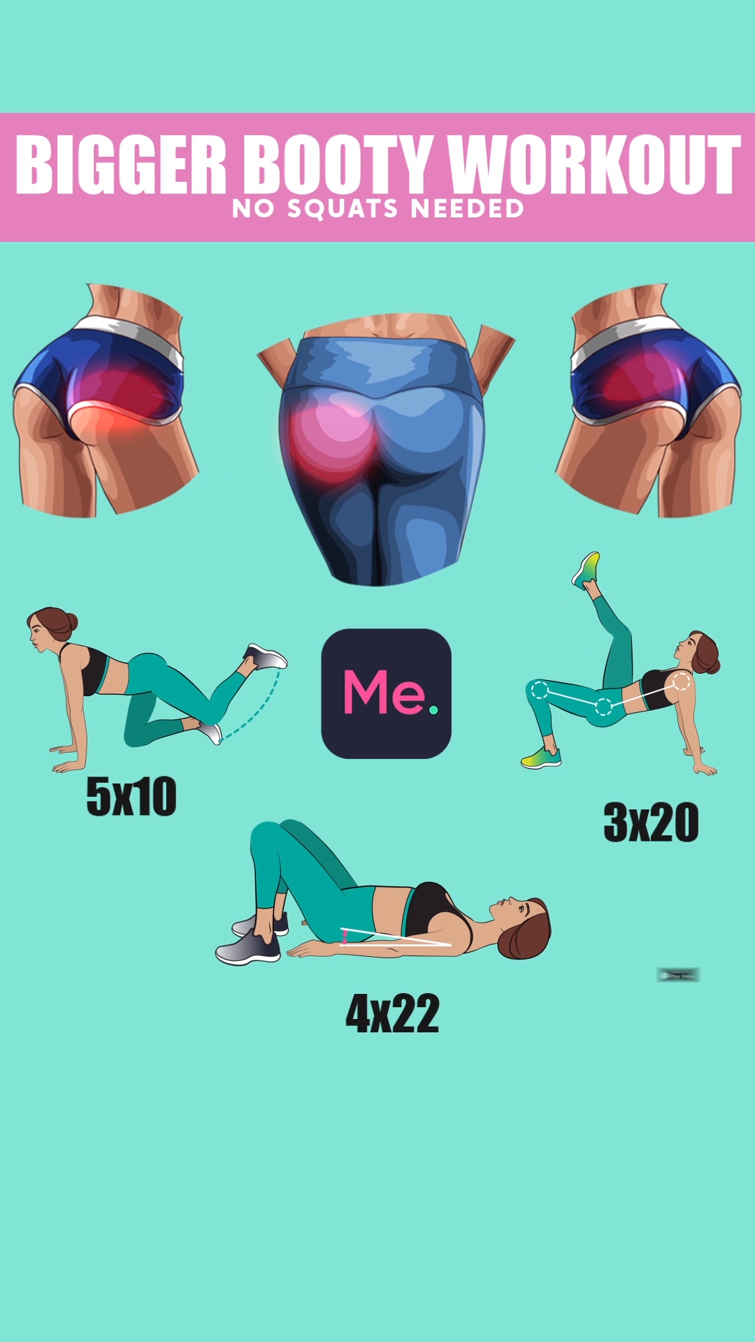 Bigger Booty Workout! #fitnesschallenges