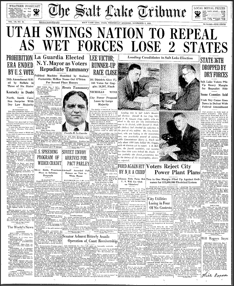 the origins of the idea for the american prohibition and the 18th amendment to the american constitu Transcript of al capone, the 18th amendment and prohibition  how did your topic affect american society,  • the 18th amendment was called the prohibition.