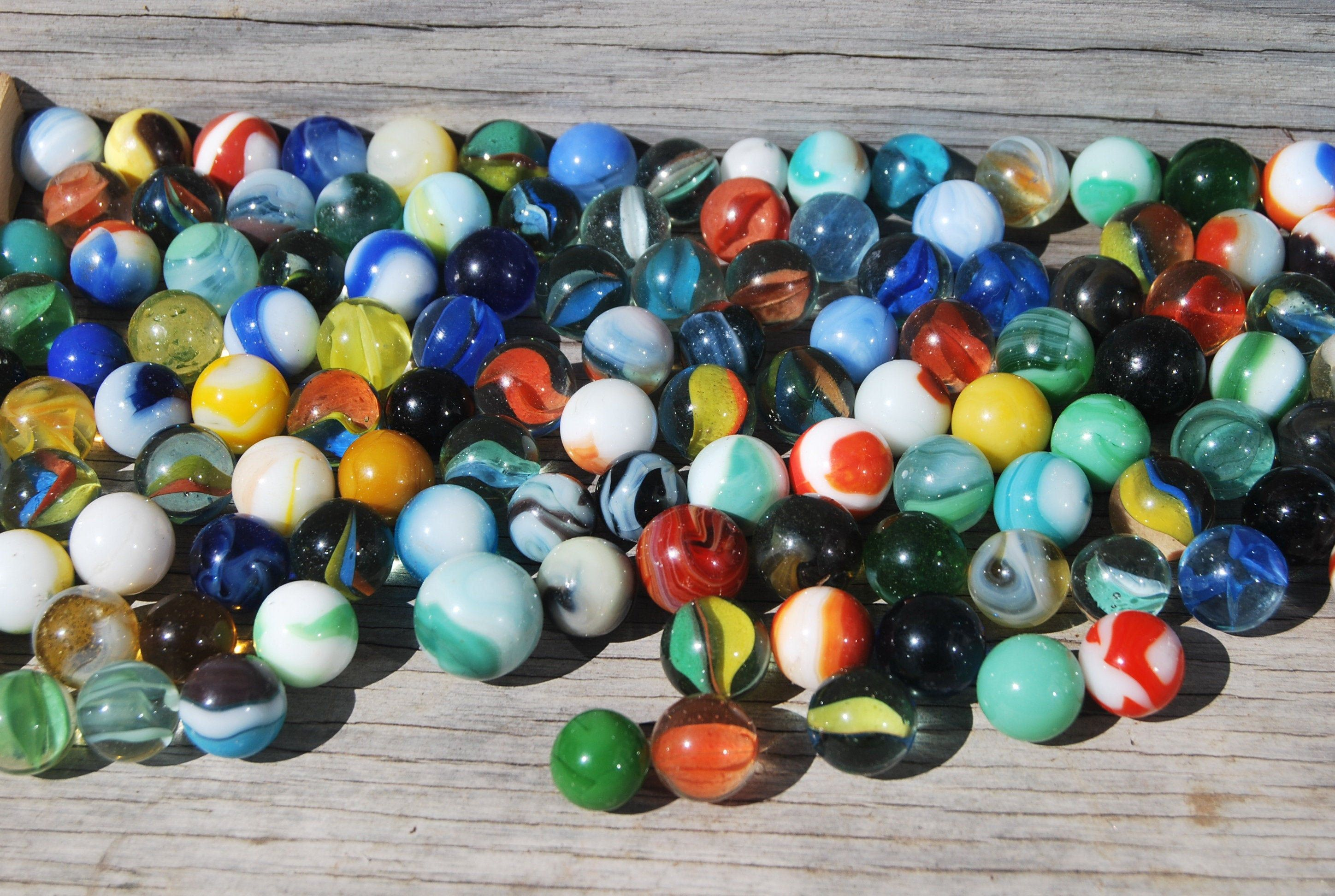 120 Antique Marbles In A Ball Perfect Mason Jar Old Glass Toy Marbles Vintage Jars Vintage Jars Glass Toys Mason Jars