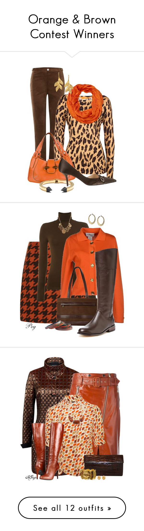 """Orange & Brown Contest Winners"" by jayhawkmommy ❤ liked on Polyvore"