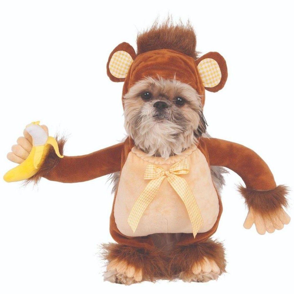 Rubie S Walking Monkey Pet Costume Medium Adult Unisex Brown In