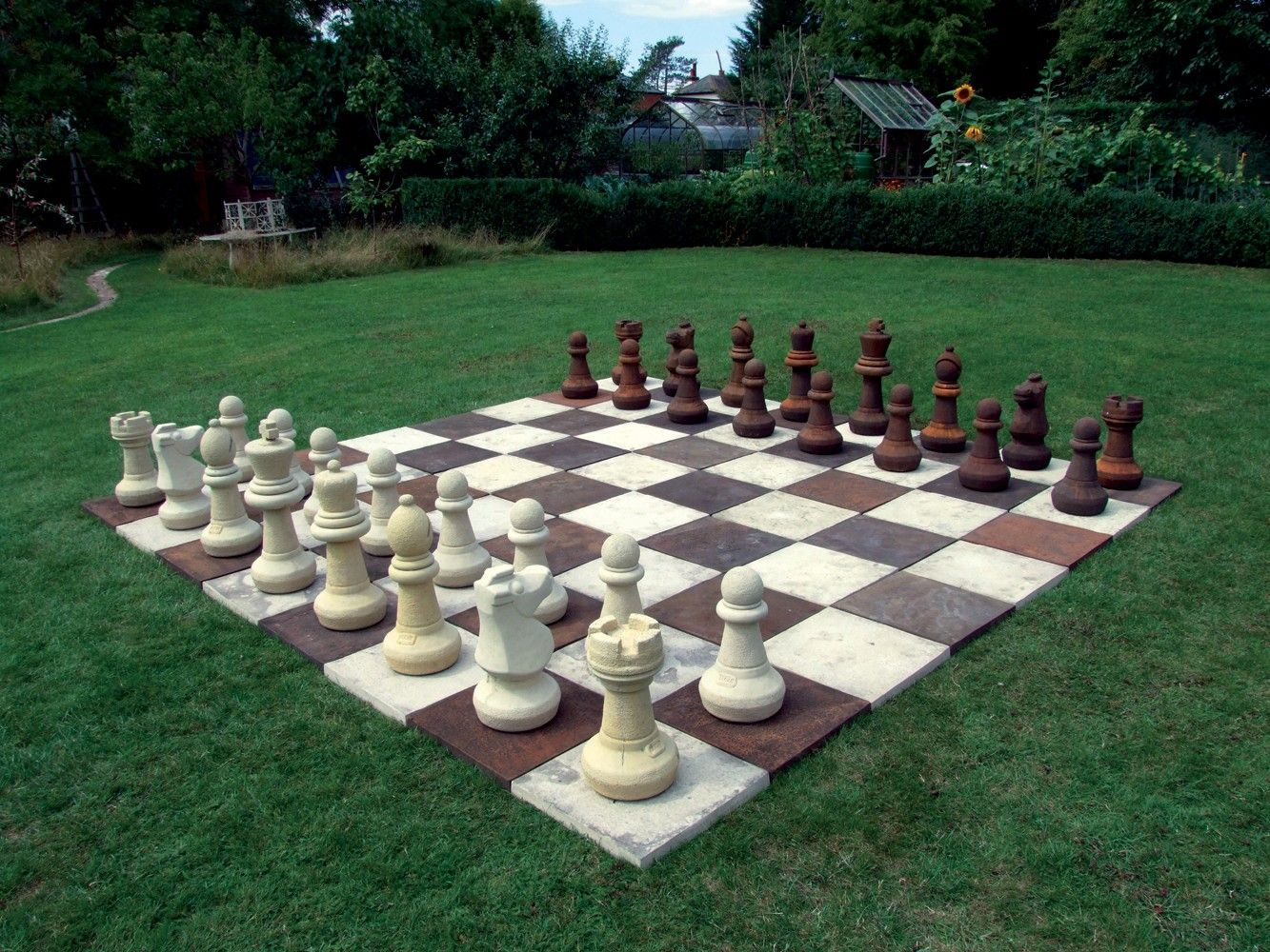 Large Garden Games Stone Chess Set Board With Pieces Stone Chess Set Marble Chess Set Chess Set