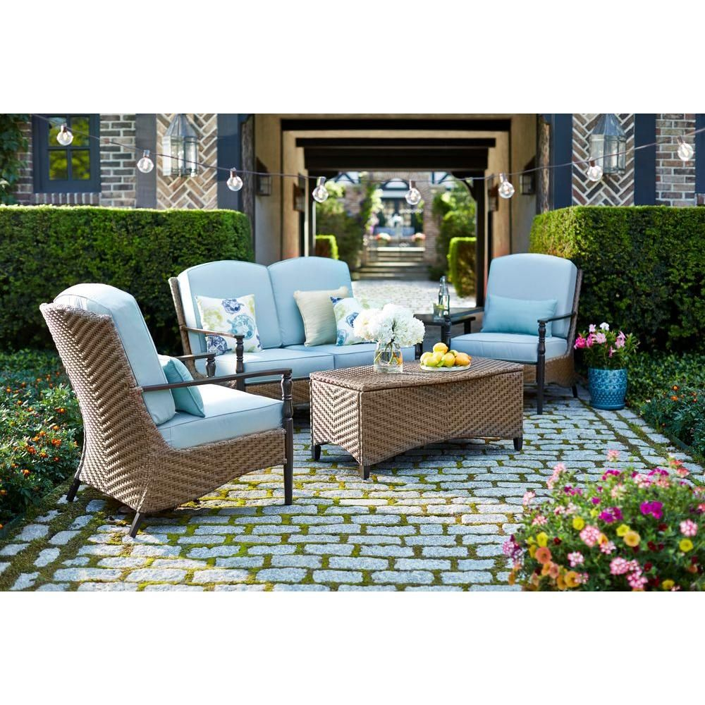 Hampton Bay Bolingbrook Lounge Patio Chair (2-Pack)-D13106