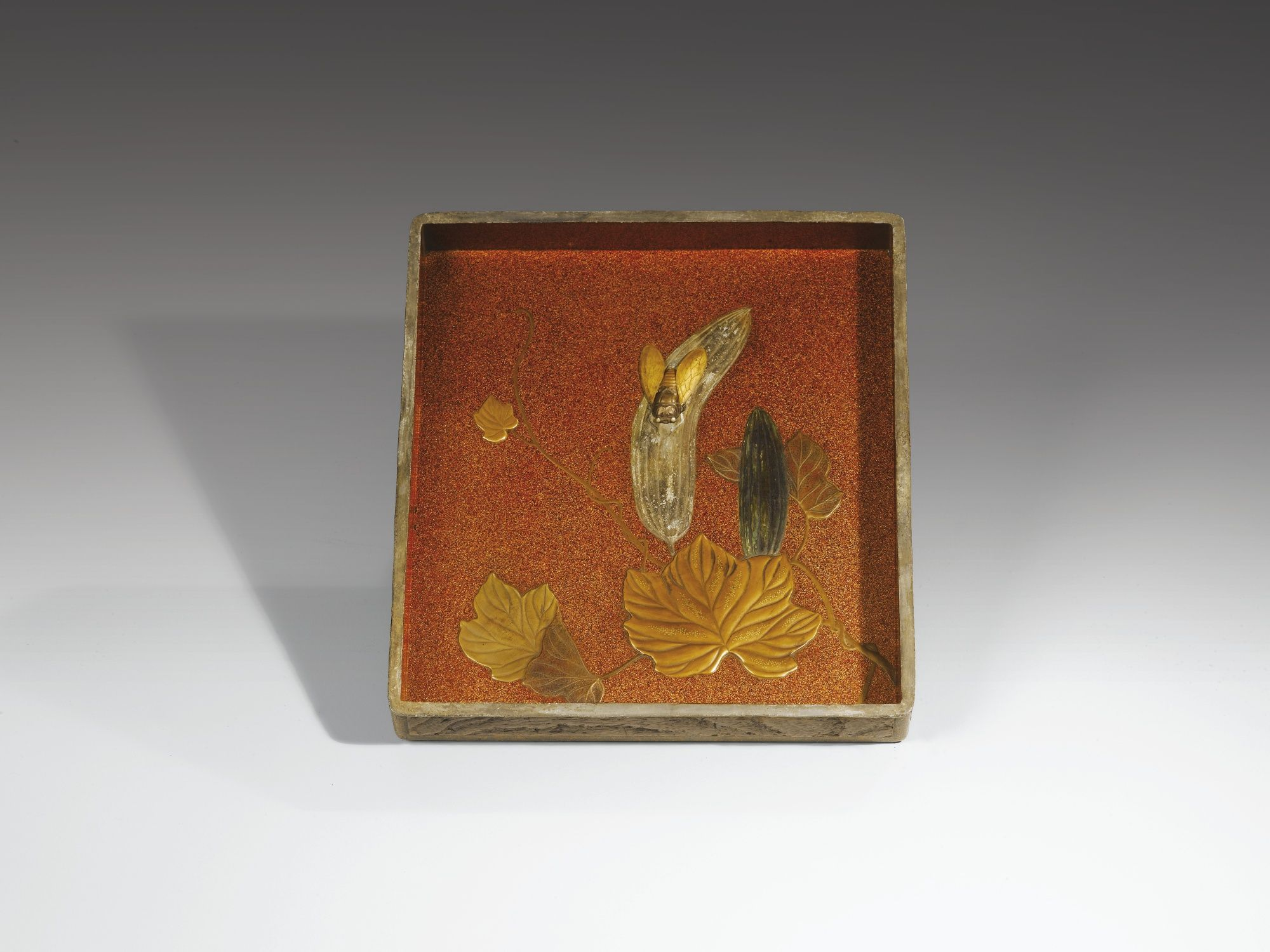 A LACQUER WRITING BOX AND COVER (SUZURIBAKO) SIGNED KANO KJUHAKU, JAPAN, EDO PERIOD, 18TH CENTURY