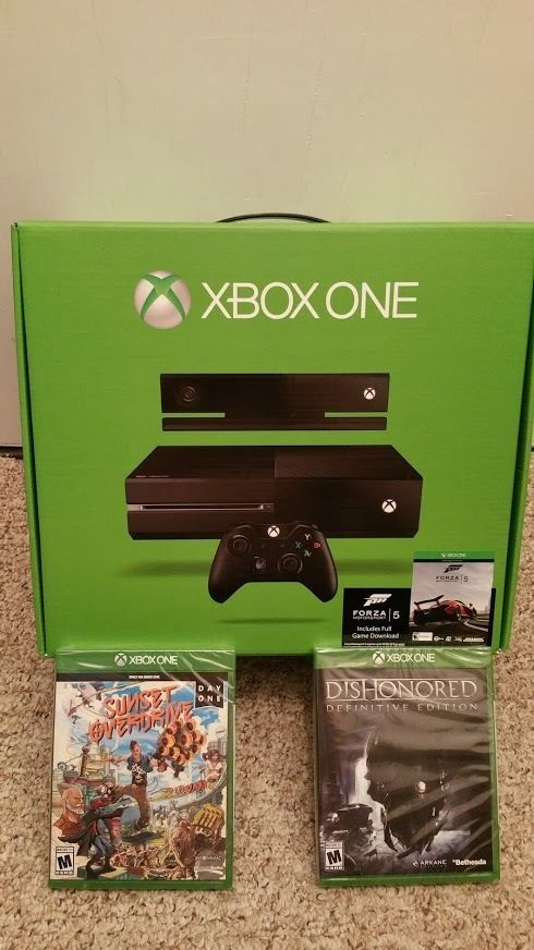 New Xbox One 500gb Console Kinect Bundle Sealed Retail Box 7uv 00077 3 Games Microsoft Kinect Xbox Game Controller