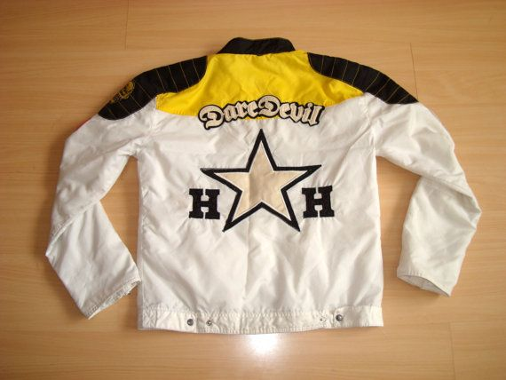 5f034ecdf Vintage nylon racing jacket, HARRISON GIBSON jacket, Zip Up jacket ...