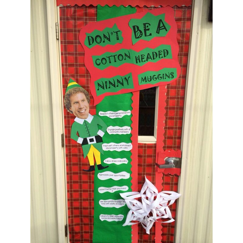 Door Decorations Christmas Contest: Door Decorating Contest Elf