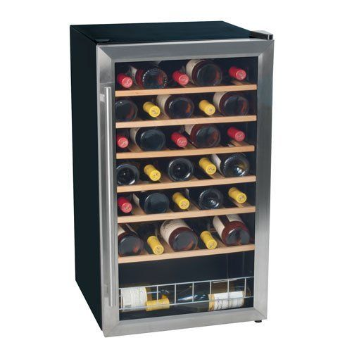 Koldfront 33 Bottle Free Standing Wine Cooler Stainless