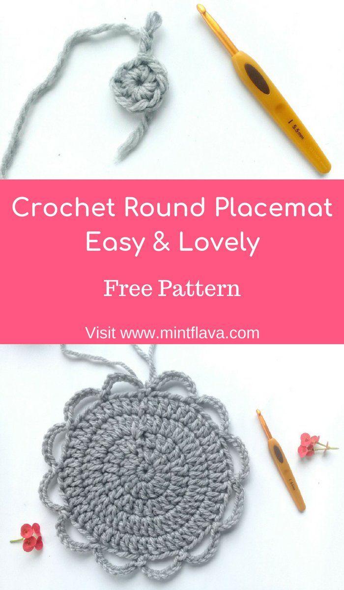 Crochet Round Placemat Easy & Lovely : Free Pattern   Häkeldeckchen ...