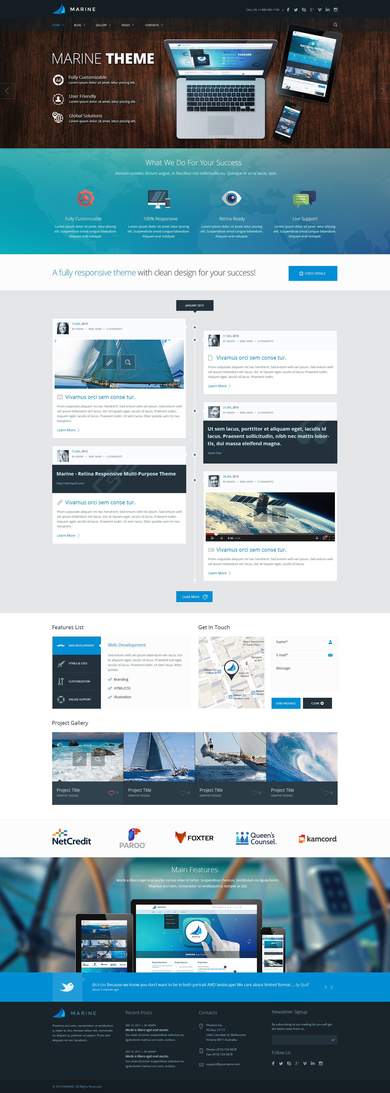 Marine Psd Template Unique Web Design Flat Web Design Web Design User Interface