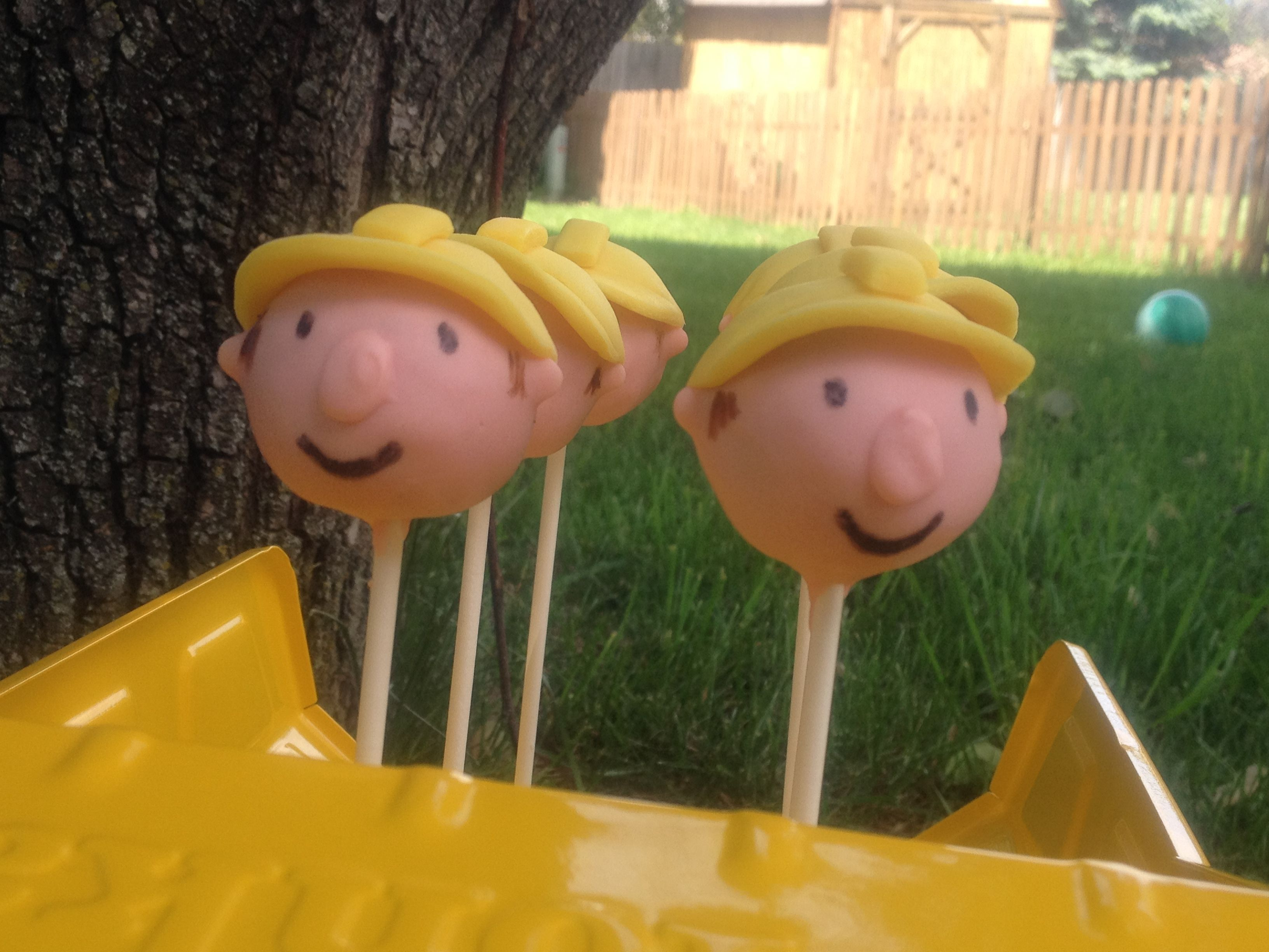 Bob The Builder Birthday Cake Pops