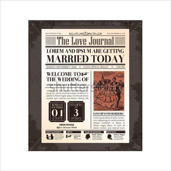 16+ Superb Old Newspaper Templates  Designs Free  Premium