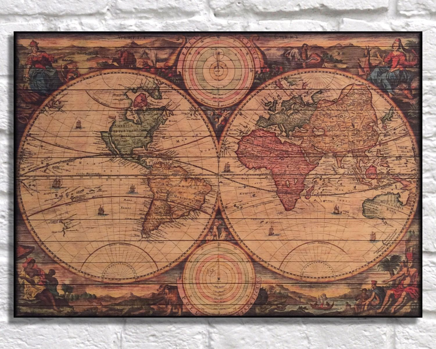 Wood world map father gift wood wall art mens gift wood map travel wood world map father gift wood wall art mens gift wood map travel map gift for men office decor wife gift for husband panel effect wood art gumiabroncs Choice Image