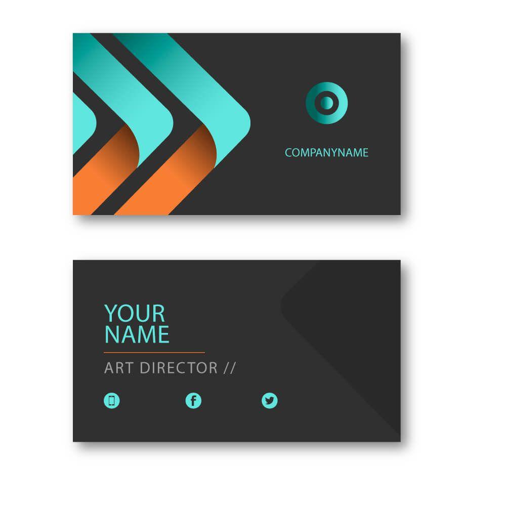 Blue Orange Visiting Card Vc103 Visiting Card Design Visiting Cards Colorful Business Card