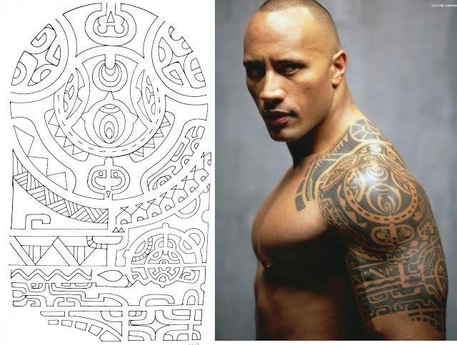 desenho maori da tattoo de dwayne johnson   tatuagens   pinterest