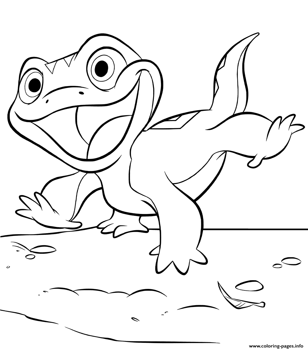 Print Lizard Bruni from Frozen 10 coloring pages   Frozen coloring ...