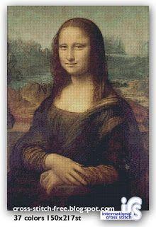 Monalisa Free Pattern In 37 Colors Cross Stitch 150 X 217st Code