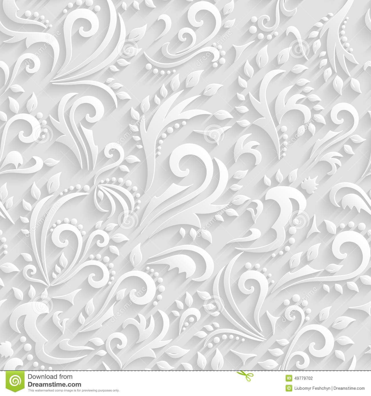 Wedding Paper: Vector Floral Victorian Seamless Background. Dreamstime