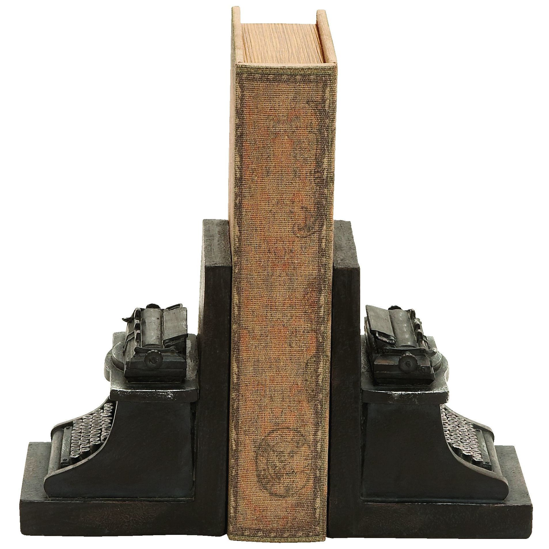 Woodland Imports Old Look Typewriter Themed Book Ends