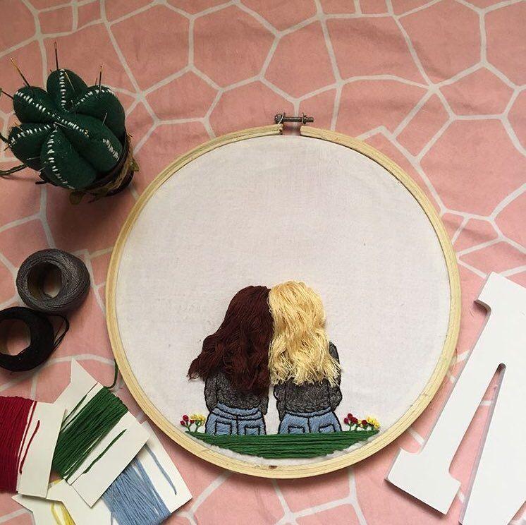صداقة تطريز تطريز يدوي اصدقاء Embroidery Handmade Friendship Kasnak Sanati Elde Nakis Nakis Tasarimlari