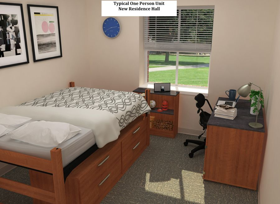 This Is A Typical One Person Room In New Residence Hall At