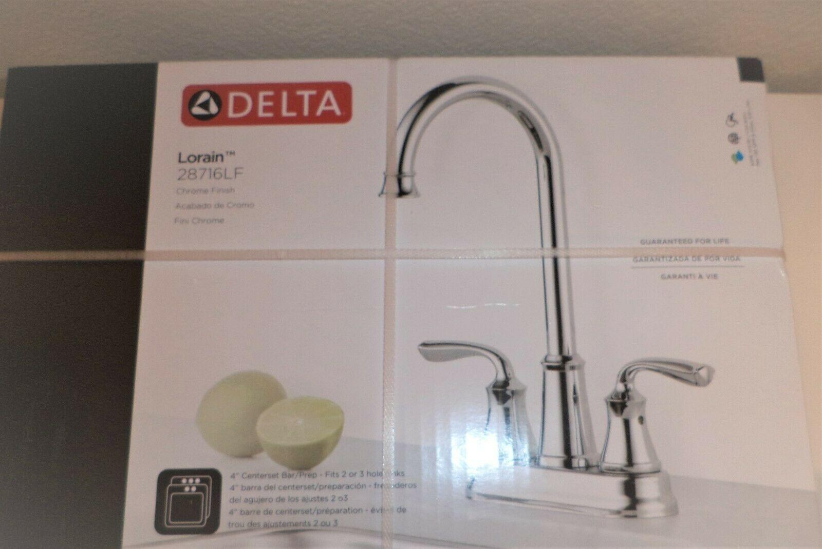 Delta Lorain Chrome 2 Handle Bar Prep Kitchen Faucet 28716lf 4