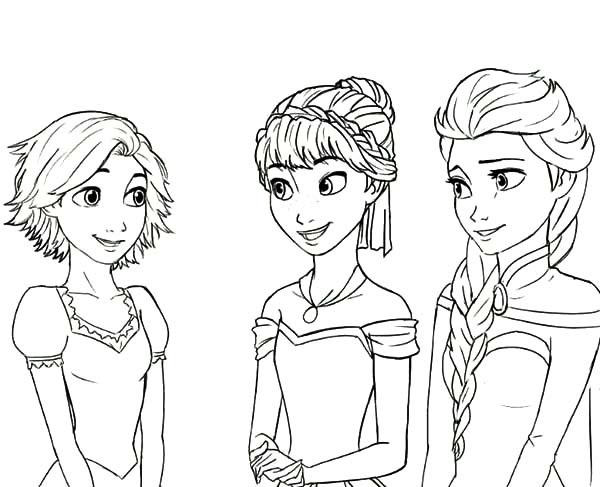 Rapunzel Is Princess Anna And Queen Elsa Cousin Coloring Pages Best Place To Color Frozen Coloring Frozen Coloring Pages Disney Coloring Pages