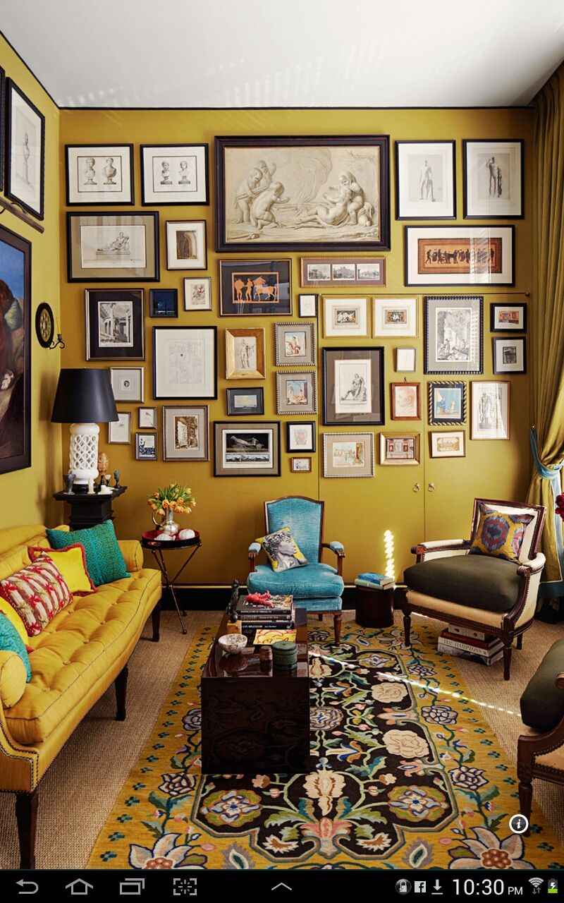 Just wanna have mustard walls i could live here pinterest farbgestaltung wandfarbe und - Wandfarbe senfgelb ...