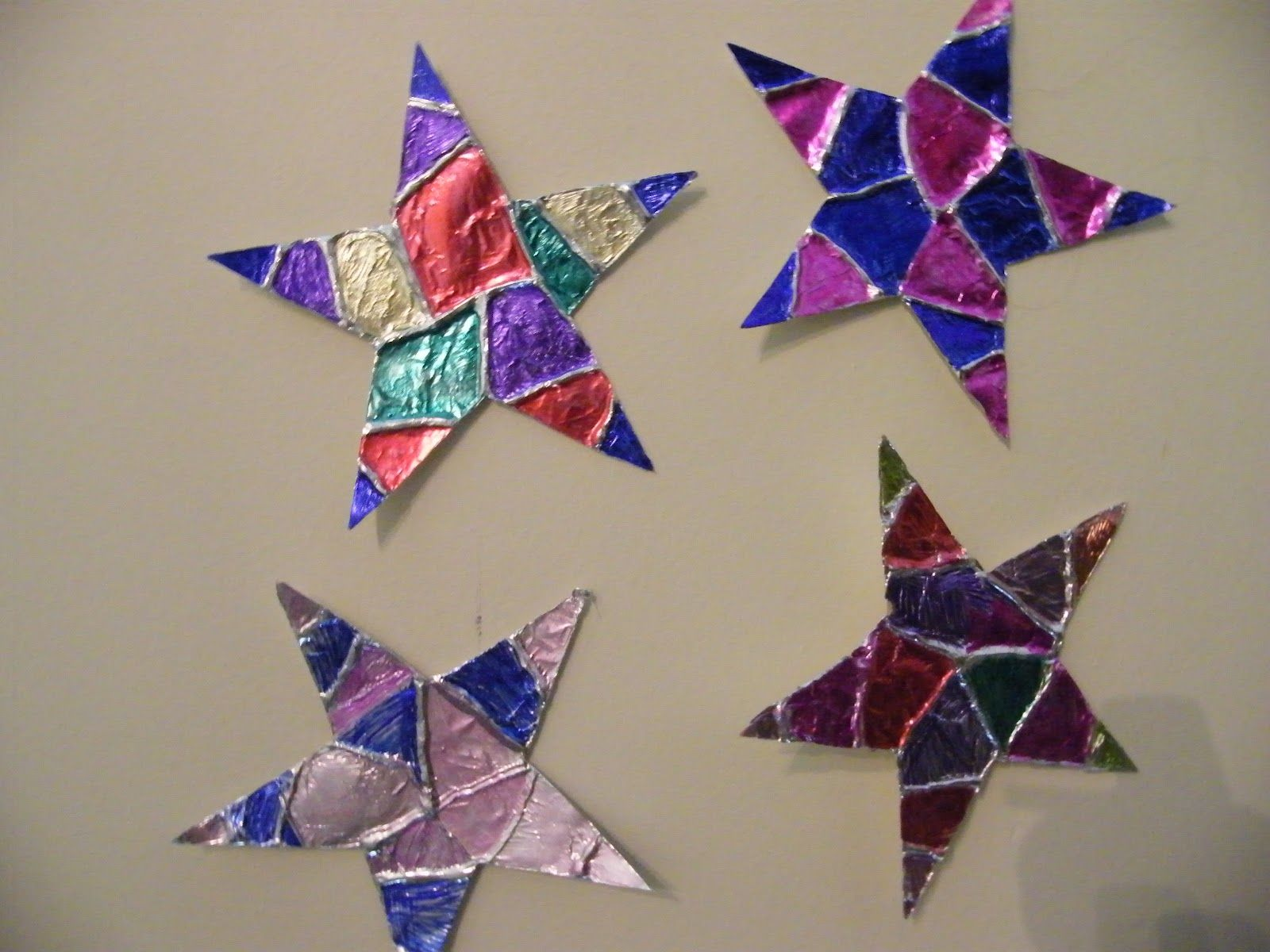 Stars Out Of Aluminum Foil Glue Gun And Markers For Creation Day 4 Or I Can Be Gods Shining