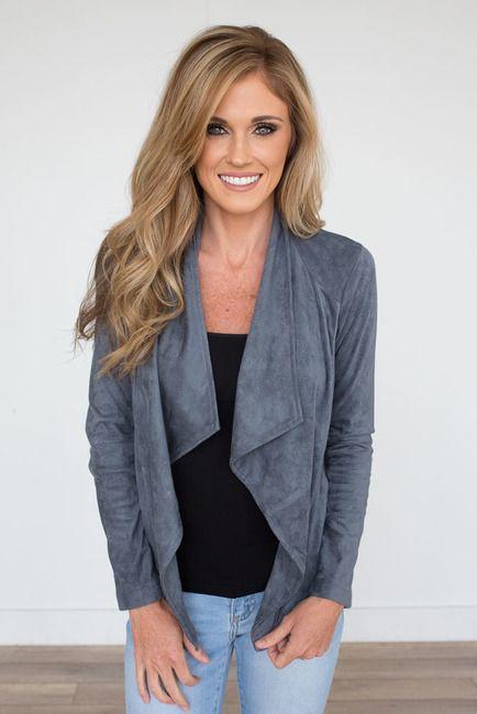 Bb Dakota Wade Suede Jacket Grey Fashion In 2019