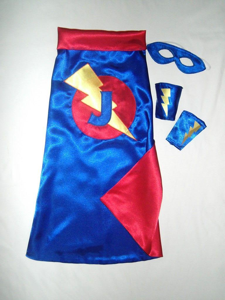Superhero Cape Super Hero Cape mask and cuffs set