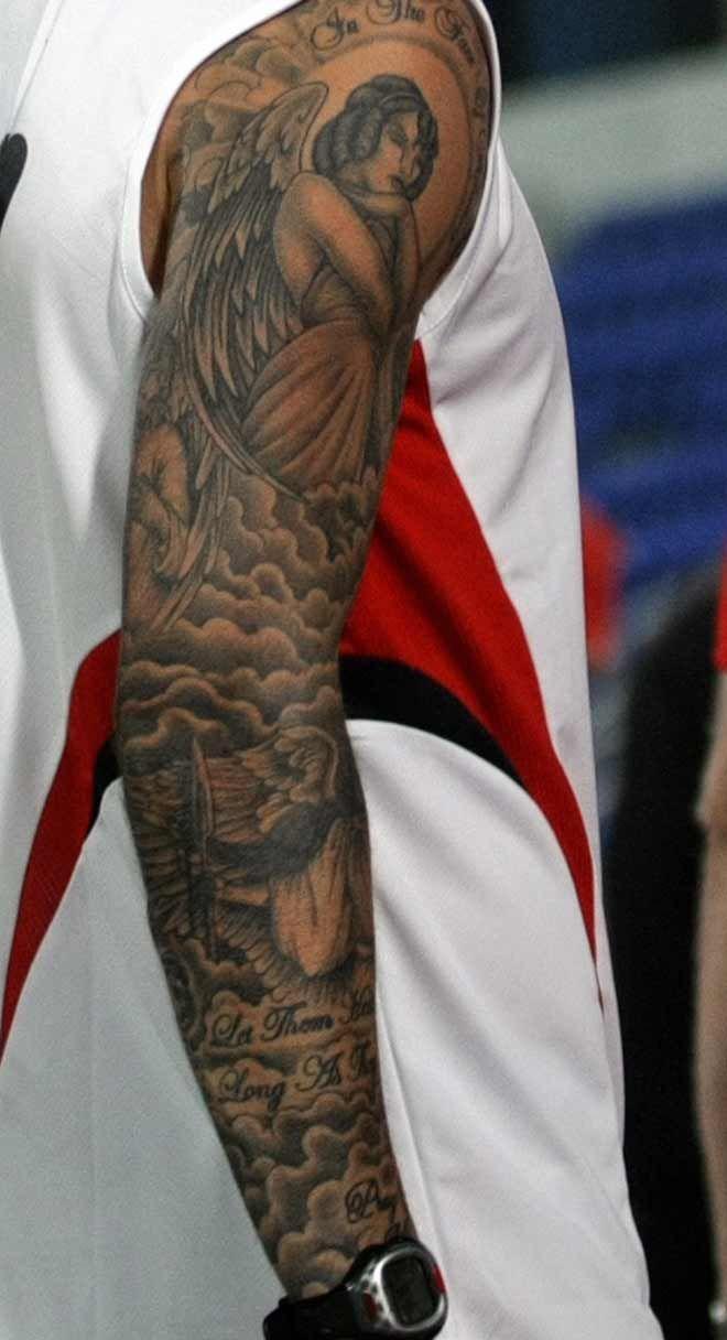 David Beckham Sleeve Tattoos  Beckham Tattoo