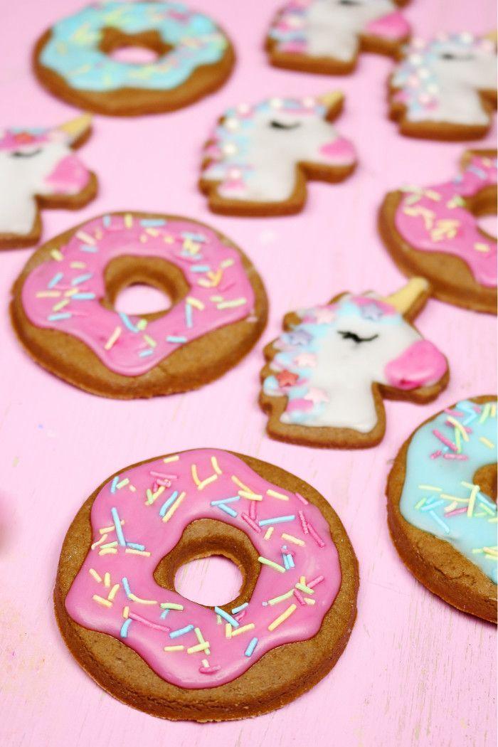 einfaches lebkuchen rezept einhorn donut lebkuchen backen diy basteln selbermachen. Black Bedroom Furniture Sets. Home Design Ideas