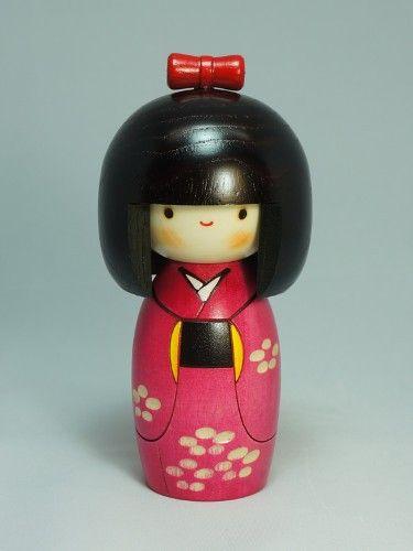 by Usaburo w//gift Wind of Spring Lovely Japanese Kokeshi Doll HARU-NO-KAZE