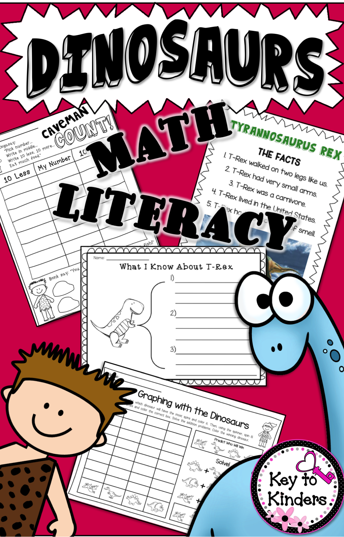 Dinosaurs Math And Literacy Activities And Centers