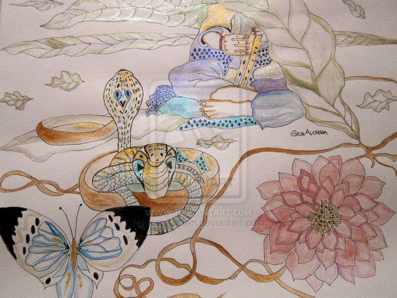 THE MONSOON AND THE SNAKE CHARMER by GeaAusten.deviantart.com on @deviantART