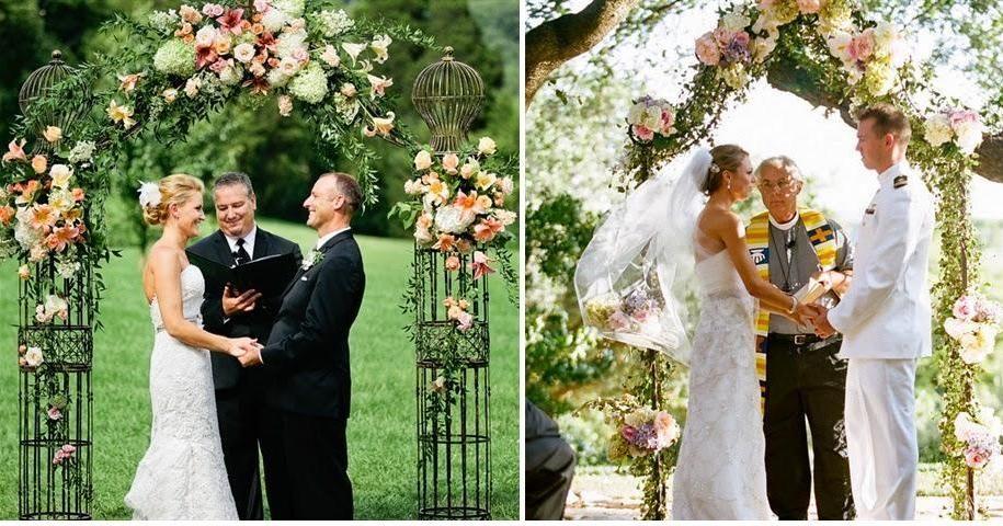 ¡Pon un arco de flores en la decoración de tu boda!